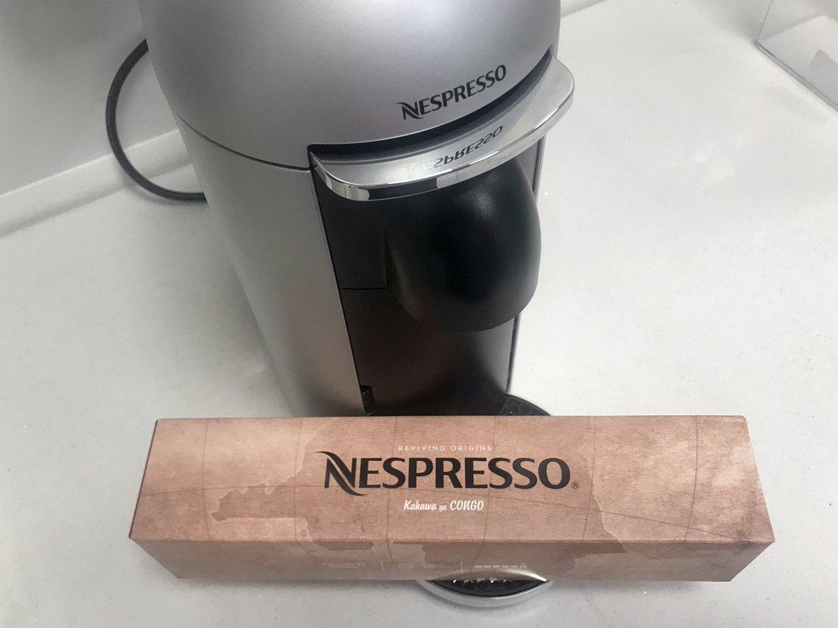 Je suis de retour à Kinshasa et j'étais heureux de voir arriver ma commande du nouveau café congolais 🇨🇩 Kahawa ya Congo de @NespressoUSA - soutenu par le partenariat public-privé de @USAID🇺🇸. Bon début de mon dimanche! https://t.co/w33LUDq0XB