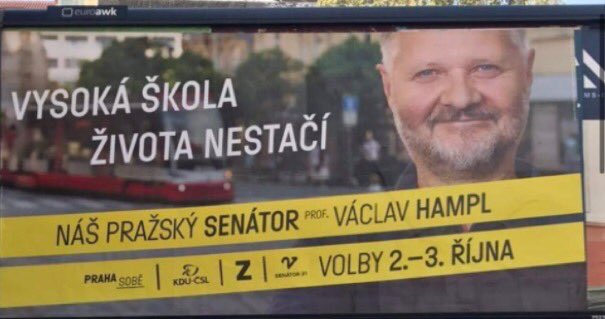 Takhle vede senátní kampaň emeritní rektor Univerzity Karlovy Václav Hampl v obvodě, kde kandiduje Mirka Němcová. Slušnější slovo pro to je nehoráznost, ale myslím, že lepší je ubožáctví. https://t.co/9t6xUDBm2d