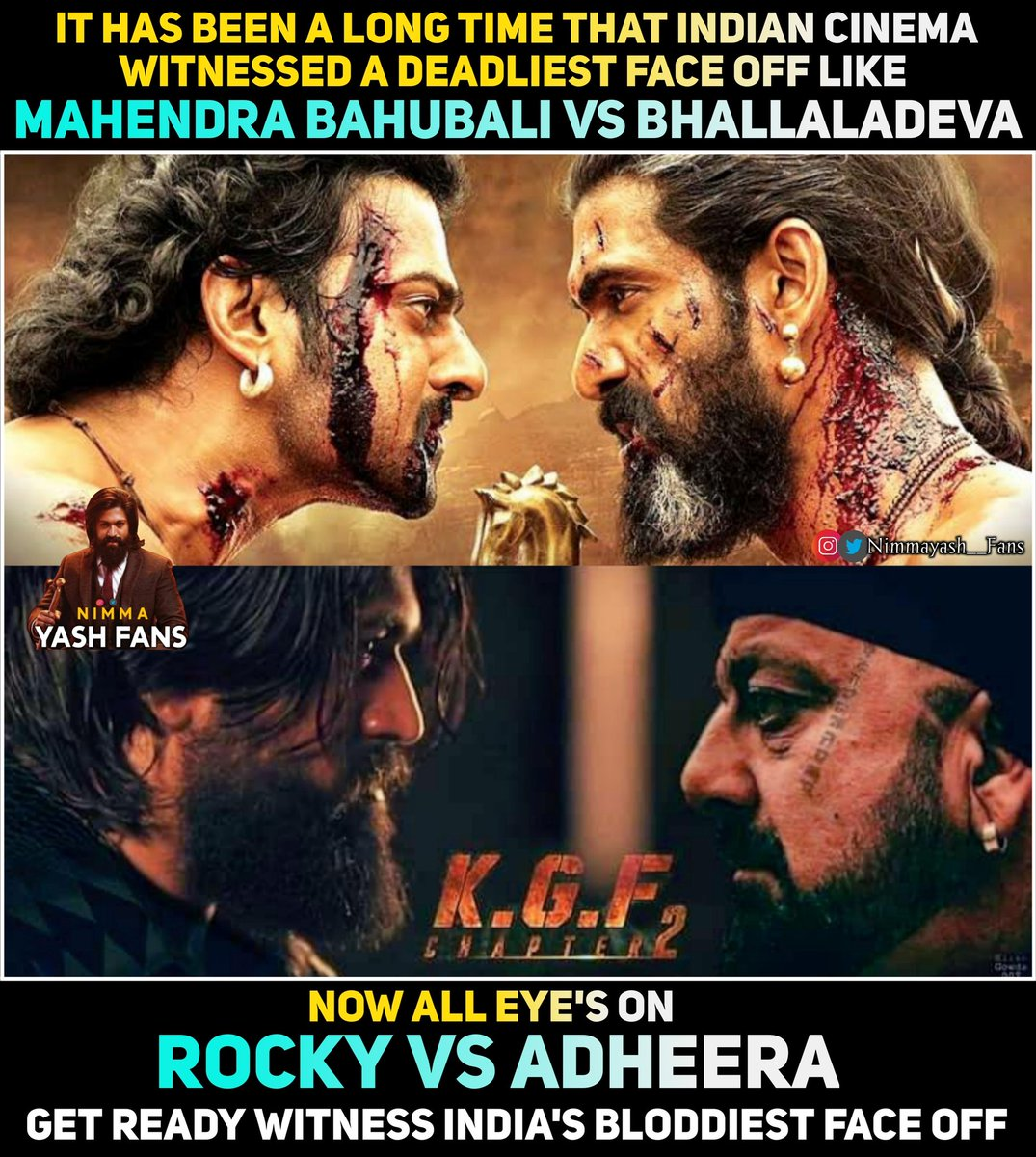 Rocky Vs Adheera Epic Face off 😈🔥  #Yash #YashBOSS #Adheera #KGF #KGF2 #KGFChapter2 #Rocky #rockybhai #thenameisyash #deadliest #Bahubali https://t.co/pLtQL3Vy72