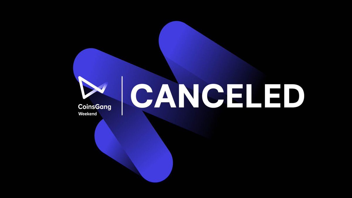 Dear friends! Unfortunately. We have to cancel the event in Turkey on September 25-28. The Corona lockdown made this organization very complicated, and we really really tried our best... And we miss you all so much, we miss our events and gatherings of crypto people. But... https://t.co/Uu7ofBJ9SL