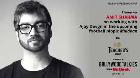 Teacher's Glasses presents #BollywoodTalkiesOutlook episode 18: watch @iAmitRSharma on working with @AjayDevgn in the upcoming football biopic @MaidaanOfficial, with author & columnist @mitrajitb. Watch the interview on  #LivewithOutlook #GenuineisRare