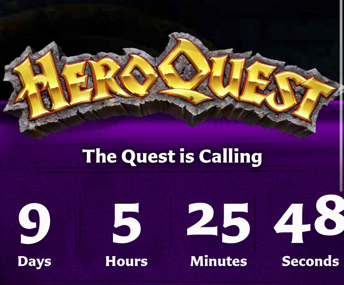 Well this could be interesting...@AvalonHill2 & @Hasbro what have you got happening here?   #HeroQuest #boardgames #hasbro #avalonhill #quest https://t.co/UTFi4w4j0o