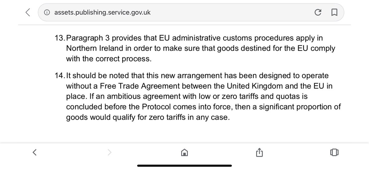 Here are two extracts of the UK government's explainer in October 2019 of the delicate compromise that was reached: https://t.co/LhfTK6vAIU https://t.co/j73l34L4TC