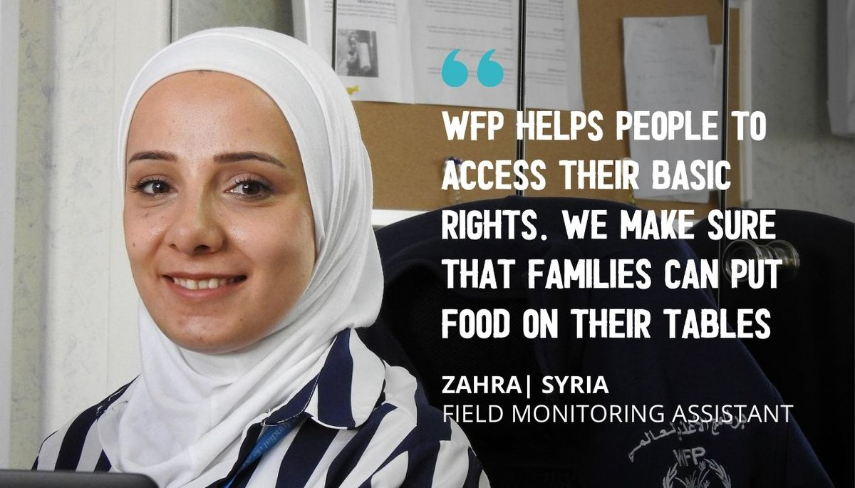 During #COVID19, @WFP staff haven't stopped distributing food & making sure that all families can get enough to eat.   Zahra from #Aleppo is just 1 of many staff who are working towards a world with #ZeroHunger in #Syria. https://t.co/thKoZ913c0