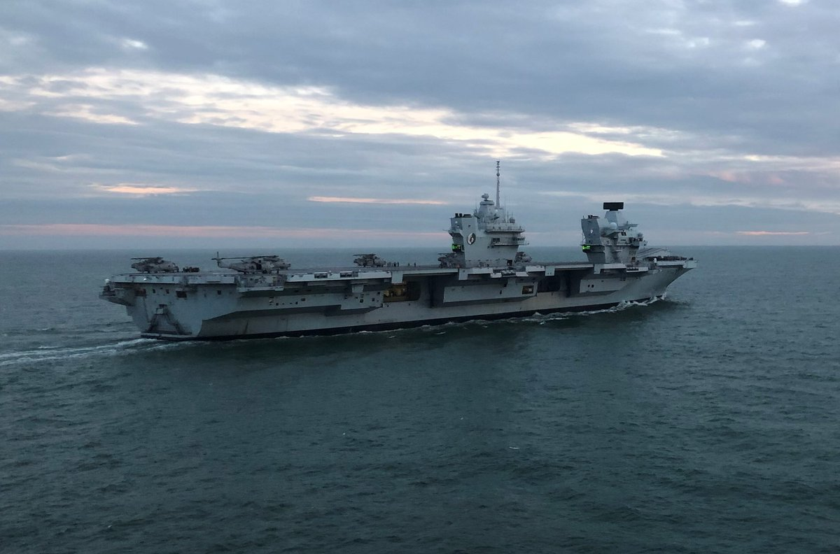 #PompeyRevs With confidence achieved that the Ship and her crew are ready to undertake @NATO #StrikeCarrier ops during #Groupex and #JW202, we are heading home. Round Tower @ 1310. @smrmoorhouse, your Flagship is ready Sir.