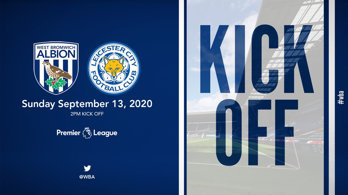 Its time. Were back. Our 2020/21 @premierleague campaign is underway 👊 COME ON YOU BAGGIES! 💙 #WBALEI