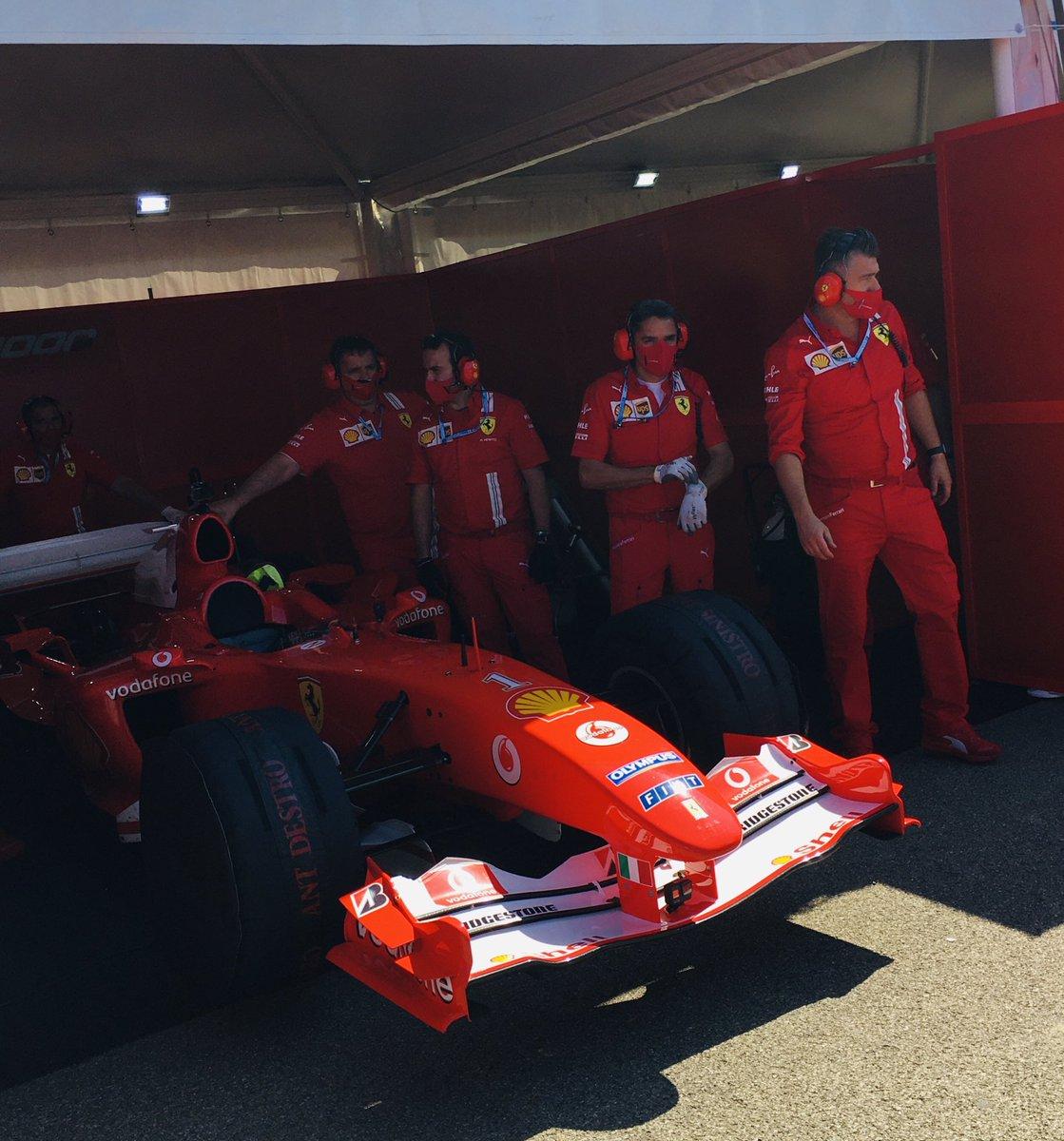 Mick Schumacher Drives His Father S Title Winning Ferrari Around Mugello