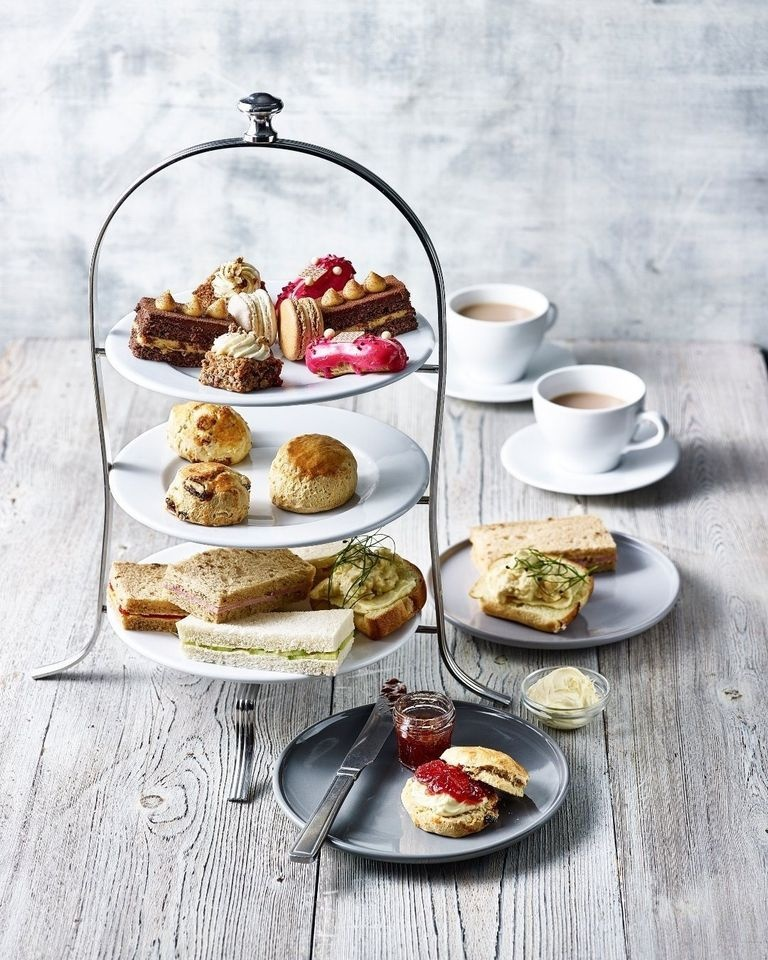 It's an Afternoon Tea kind of day!   Indulge in traditional finger sandwiches, freshly made scones with jam and clotted cream, miniature patisserie bites and a pot of tea or coffee per person.   Did we mention that VEGAN options are now available? 😊 https://t.co/psi3Zh3fR2