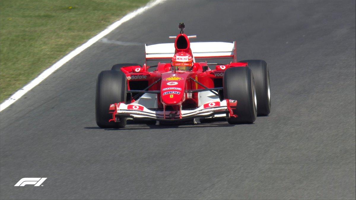 Mugello ❤️ F2004  @SchumacherMick blasts around the track in his Dad's championship-winning car as @ScuderiaFerrari get set for their 1000th Grand Prix 🚀  #TuscanGP 🇮🇹 #F1 https://t.co/GEgaI4WRop