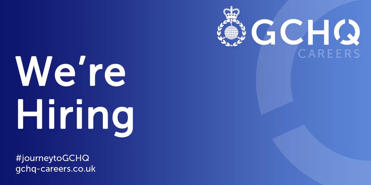 We offer challenging, varied and meaningful work that you simply won't find elsewhere. Take a look at our vacancies to help protect Britains people, interests and businesses from harm #JourneytoGCHQ ➡️ …ruitmentservices.applicationtrack.com/vx/lang-en-GB/…