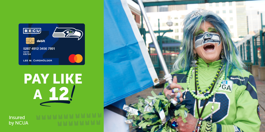 It's gameday! Kick the season off right with the new @Seahawks debit card, exclusively from BECU. Go Seahawks! Learn more and get the card at https://t.co/QfzGAGW1n9 https://t.co/Bz7QG7OZx2