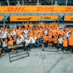 As we reach the end of our third triple-header, sending the biggest thank you to our entire team in Woking, in Mission Control, those working from home and trackside for their unwavering hard work and passion. 🧡  One team. 👊