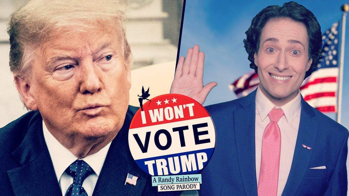 Repeat after me: #IWontVoteTrump ✋🏻  This one's a fundraiser on YouTube for @Headcountorg who I learned about from my friends at @GLAAD. Donate if you can at link in my bio and visit  to #RegisterToVote or verify your address! 🗳🇺🇸🧚🏻🎶