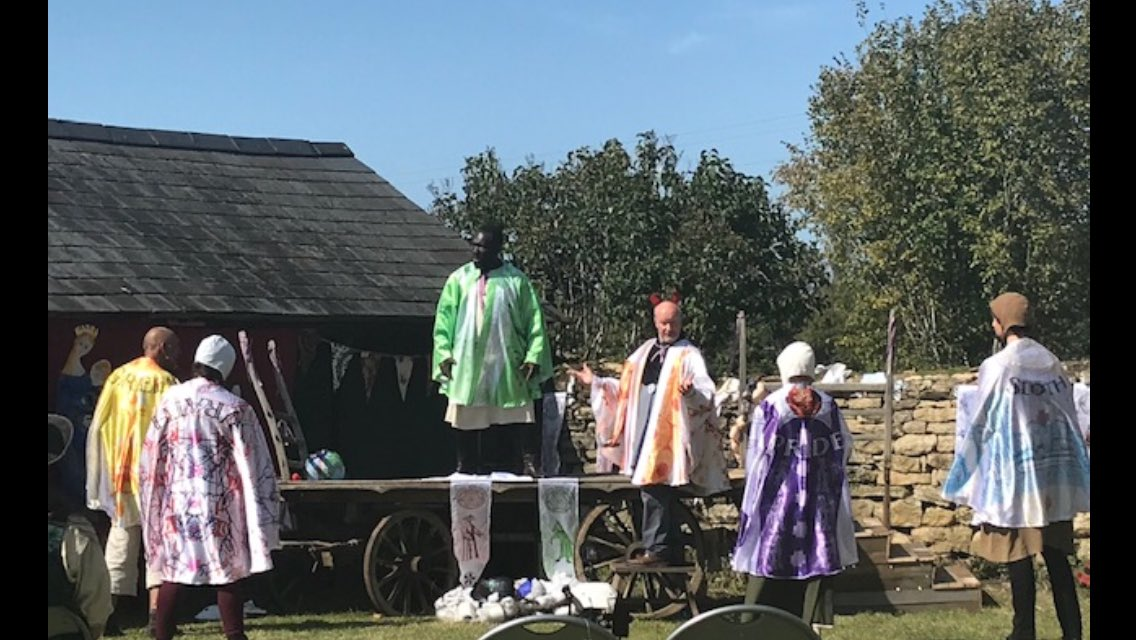 Fantastic Medieval Play @MKCityDiscovery @Director_MKCDC 😁👍 for #MKHODs funded by @HistoricEngland Check out the recording edit again on YouTube next week @DestinationMK @ace_national @AHA_MK @HeritageFundL_S @heritageopenday #HODs https://t.co/E51OerQ68N