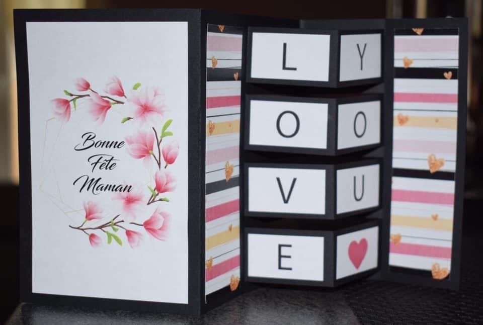 DIY carte pour la fête des mères 2020. Tuto en vidéo c'est par ici : https://t.co/QCvDEOBhgW Bon visionnage à tous ! #fêtedesmères  #diy #buildingblockcard https://t.co/fgMHL0w4qw
