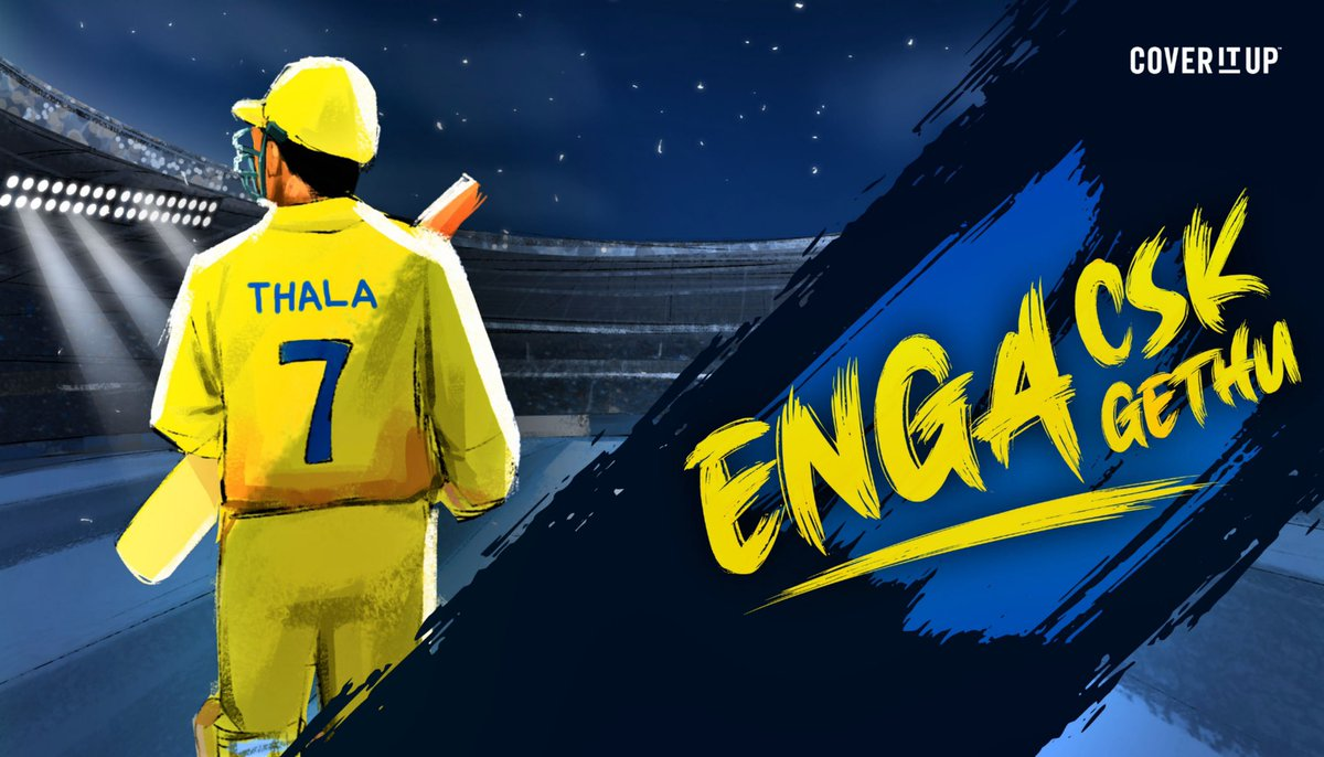 For every #CSK fan out there!! #EngaCSKEngaGethu @coveritupindia #yellove @ChennaiIPL  https://t.co/s6EfEj0bgW @msdhoni @IPL https://t.co/E7qOB0peZz