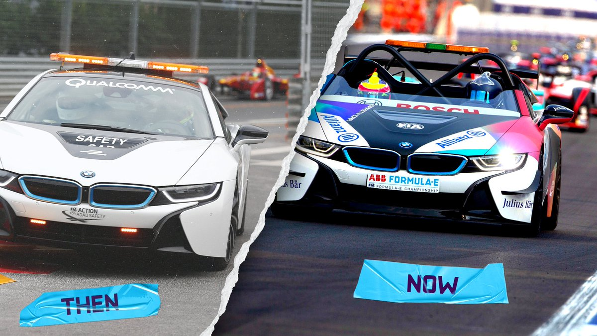 """6️⃣ years ago today the first @FIAFormulaE race took place.⚡️ And since day 1️⃣ @BMWi is the """"Official Vehicle Partner"""".  A lot has changed, not only our Safety Car and its look.  #RacingBeyond #SixYearsOfFormulaE https://t.co/NNIS7ojBHP"""