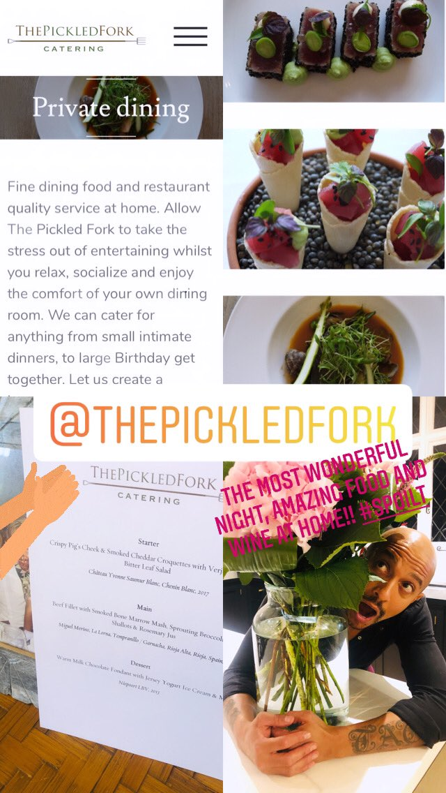 Such a brilliant night, the most amazing food and wine @thepickledfork and all in the comfort of my own home!!! 😋❤️ https://t.co/Ftla8rO8UX