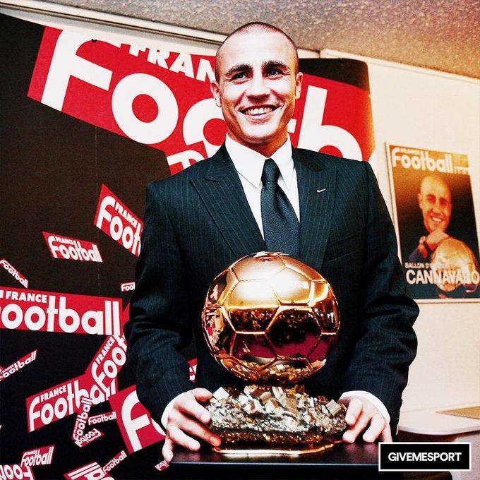 The only defender to win the Ballon d\Or Happy birthday Fabio Cannavaro