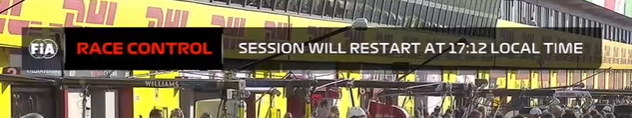 The race will restart *for the third time* in just under 10 minutes time! #TuscanGP https://t.co/7Rm1RvryS9
