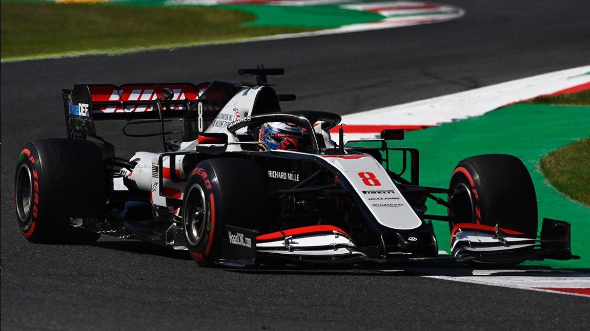 Lap 50/59: Romain drops behind Leclerc into P10.    #HaasF1 #TuscanGP https://t.co/oEMuVQqTz4