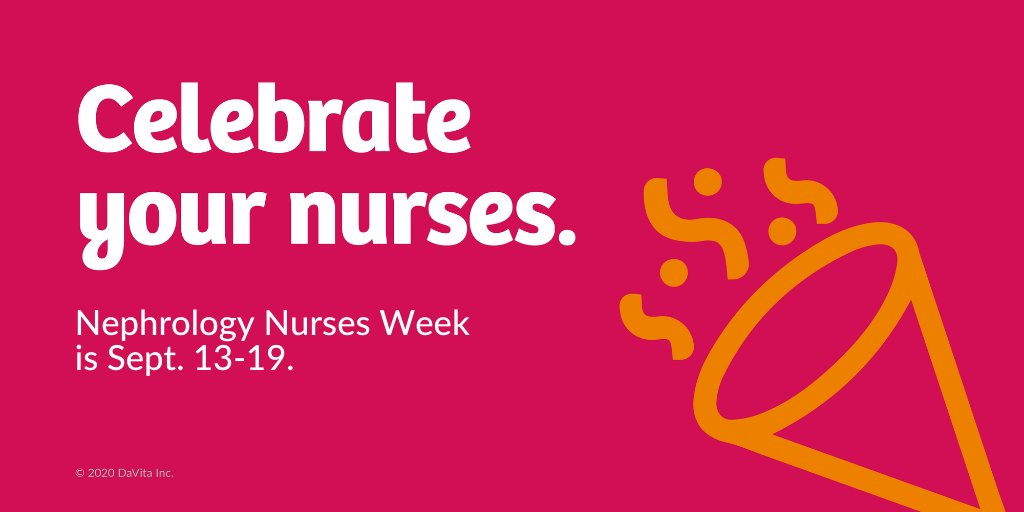 Nephrology Nurses Week is a time for all of us in the kidney care community to honor the life-giving work of nephrology #nurses everywhere. Join us this week - and always - in celebrating and recognizing nephrology nurses. https://t.co/9e88UYdeQ8