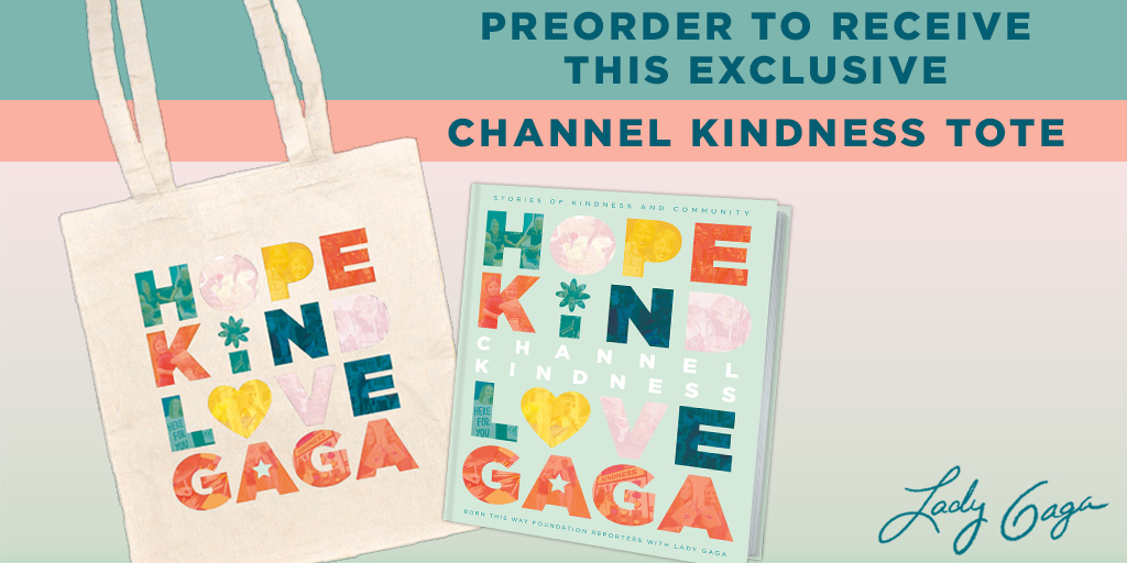 Submit your preorder receipt for #CHANNELKINDNESS to get this AMAZING tote bag!   What are you waiting for? https://t.co/nrCsk1t64v  @BTWFoundation @channelkindness @momgerm @LadyGaga https://t.co/gdqyl2M8Qc