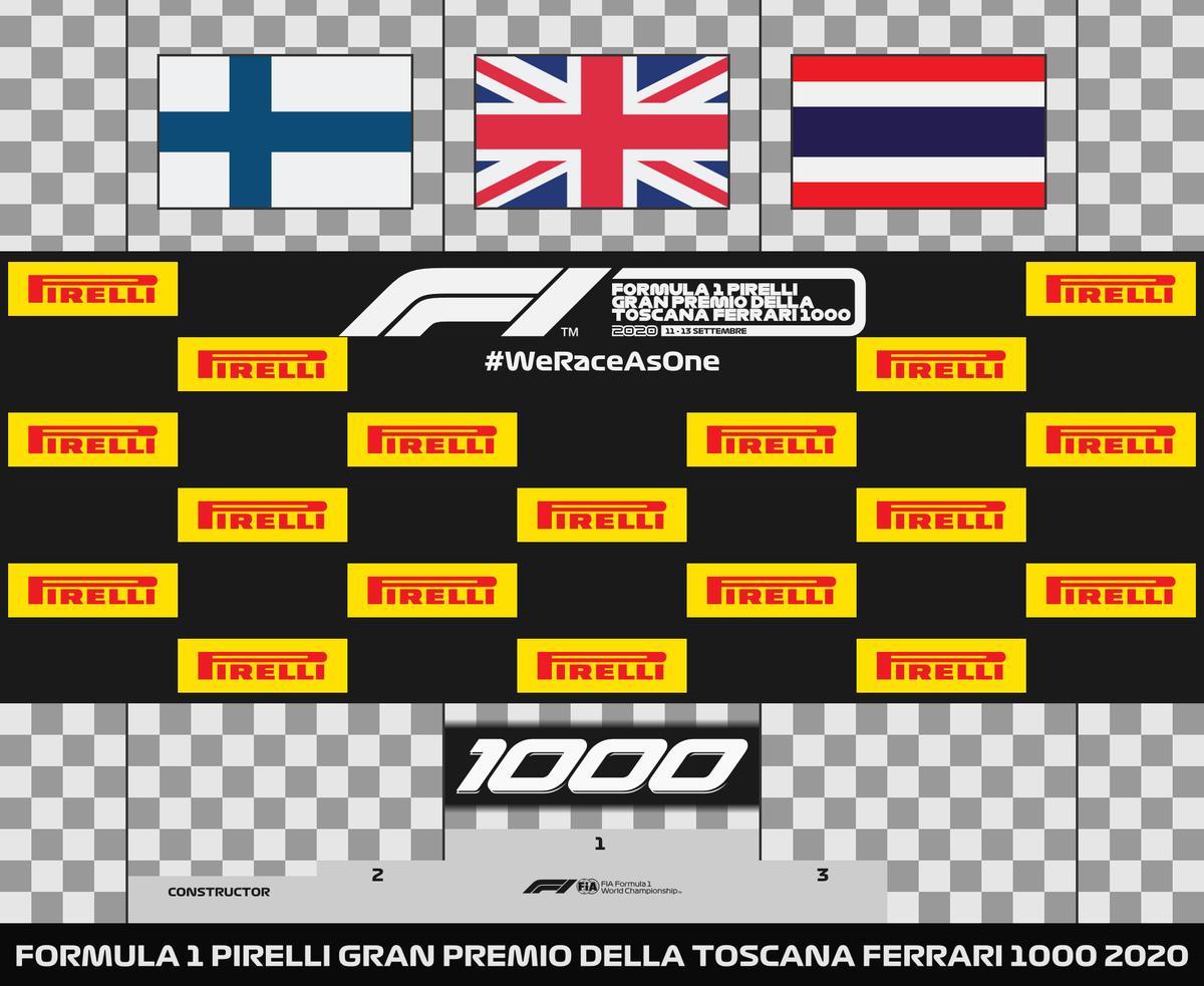 2020 FIA Formula One World Championship · Podium  Round 9 · #TuscanGP 🇮🇹  🥇 HAM · 🥈 BOT · 🥉 ALB 🥇 @MercedesAMGF1  #F1 #F12020 #AH19 #WeRaceAsOne 🌈 #vectorgraphics 👨💻 https://t.co/dXD2uAesJG