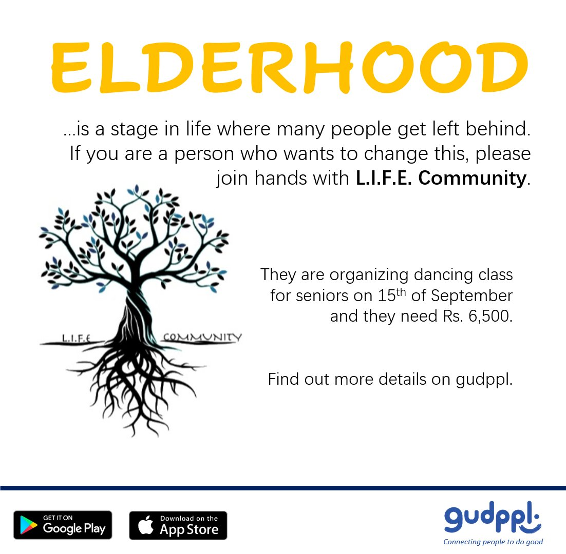 Elderhood is a stage in life where many people get left behind. If you are a person who wants to change this, please consider joining hands with LIFE Community.   Find out more details on gudppl.  https://t.co/0vo801zytW  #gudppl #volunteers #SriLanka #donors #lka https://t.co/kddfRA9tx0