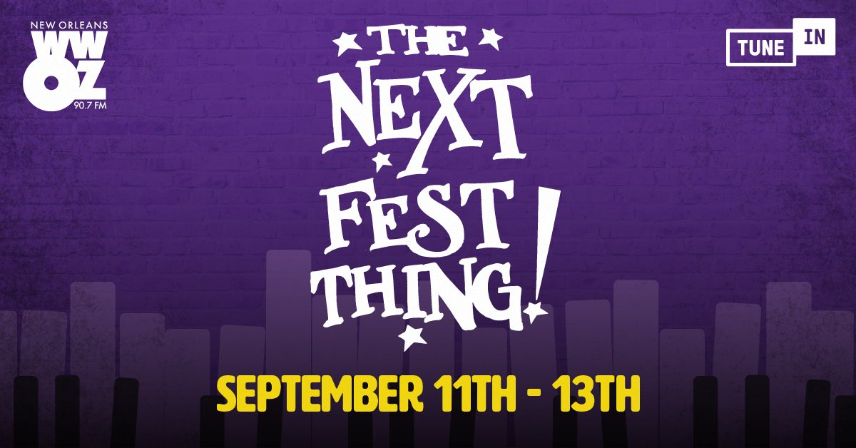 Festing In Place: The Next Fest Thing is live on @wwoz_neworleans! Today's lineup includes archived sets by Louis Armstrong, Neville Brothers and Toots & The Maytals. Listen from 11am-7pm CT on TuneIn: https://t.co/iGVvYZji9y https://t.co/xLC9BOYt43