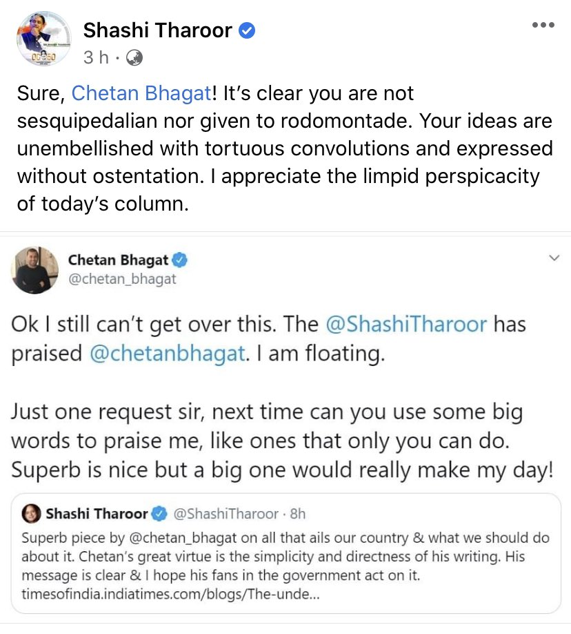 A must read post @ShashiTharoor bhai 🤣