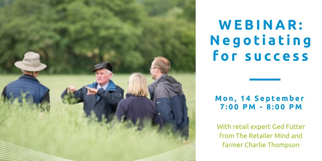 How do you negotiate for success? Join us, together with retail expert Ged Futter from The Retailer Mind and farmer Charlie Thompson for a webinar about different techniques to try and how to plan a strategy before entering a negotiation. Register now 👉 https://t.co/9CYyxXNwJS https://t.co/MiuT3yWghd
