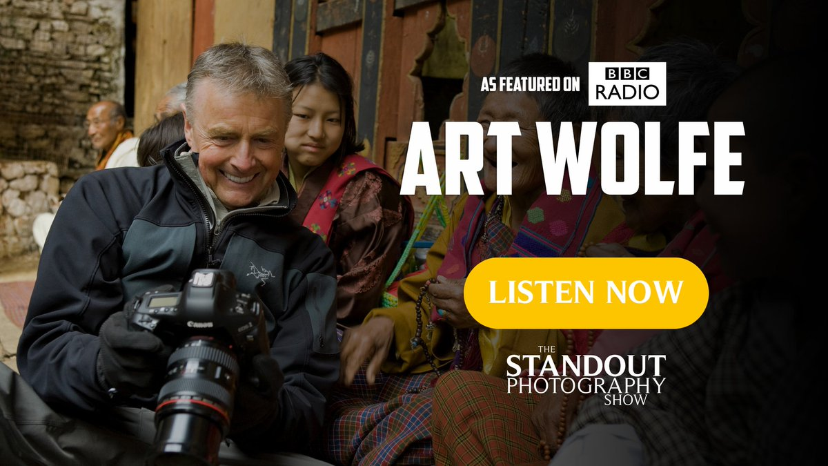 🎧 Photography Podcast Episode on BBC Radio   👏 Thank you @BBCUpload for featuring my conversation with American Photographer Art Wolfe @artwolfe on The Standout Photography Show.  Available to download here or wherever your ears enjoying listening https://t.co/ns0QS6TVW5 https://t.co/aYIMTV0Esc