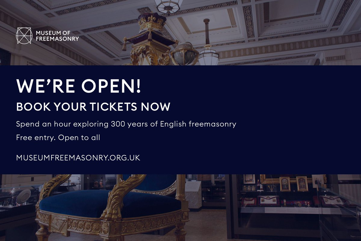 Did we tell you we're open again?! We're still free, and you can book your tickets now from the website  Find out more and book your tickets here 👉 https://t.co/JbLrwDdcSa  #museumsunlocked #culturetrip #museumfromhome #museums #museummileldn #londonmuseums #freemasons https://t.co/En6cDfQIvq