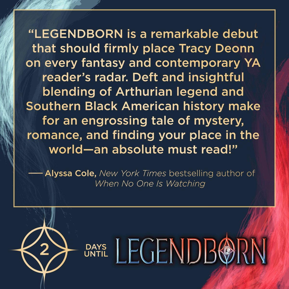 💫TWO MORE DAYS💫 until the LEGENDBORN universe begins! Counting down with my faves, @AlyssaColeLit! 👀Peep that edit with her NYT Bestseller status! 🙌🏽 Taking a little social media break today while I can. As always, RTs and pre-orders appreciated! 💙 bit.ly/2MncaBM