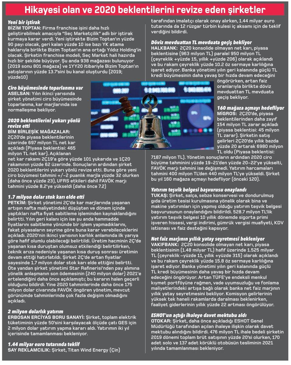 Hikayesi olan ve 2020 beklentilerini revize eden şirketler  #bizimtoptan #BIZIM #aselsan #ASELS #bim #BIMAS #petkim #PETKM #erbosan #ERBOS #say #SAYAS #halkbank #HALKB #migros #MGROS #tukaş #TUKAS #vakıfbank #VAKBN #otokar #OTKAR #borsa #bist #ekonomi #yatırım #hisse #faiz https://t.co/YH53RVKzXO