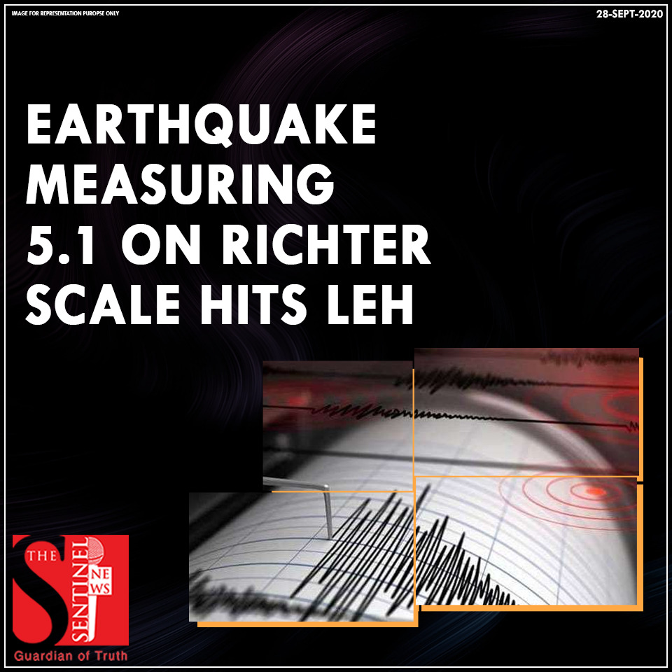 An earthquake measuring 5.1 on Richter scale hits Leh in #Ladakh last night.   Met department informed that the earthquake hit the region at 10.57 pm at a depth of 10 Km.   It shook the Leh region and the tremors were felt strong in Nubra, Karakoram and Lalok areas in Leh. https://t.co/8UxK56H72d