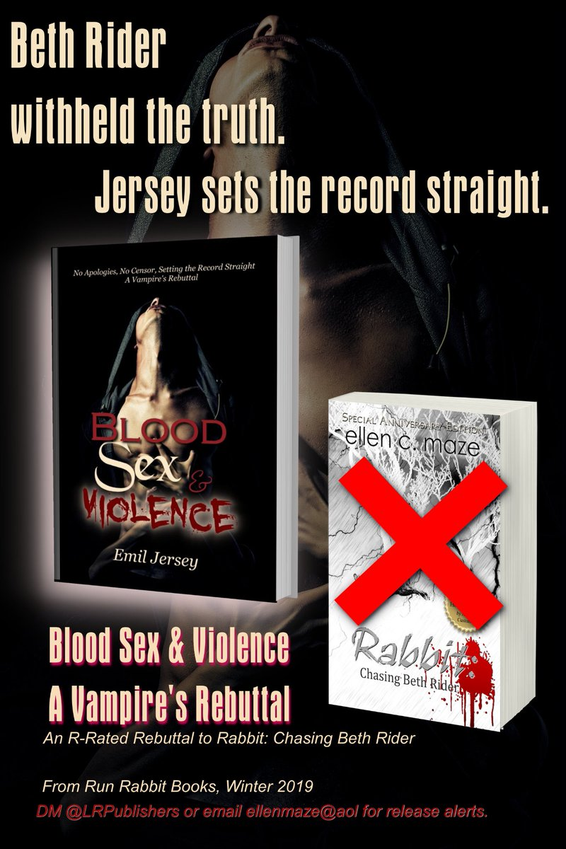 No Apologies. No Censor. Setting the Record Straight. ~ Emil Jersey  Blood Sex and Violence, A Vampire's Rebuttal from @ RunRabbitBooks.  FREE on KindleUnlimited.  fantasy fiction vampires LGBTQ  #ASMSG IARTG Kindle #books ebooks https://t.co/Q2YomNhSRK https://t.co/83H5ImDfy4