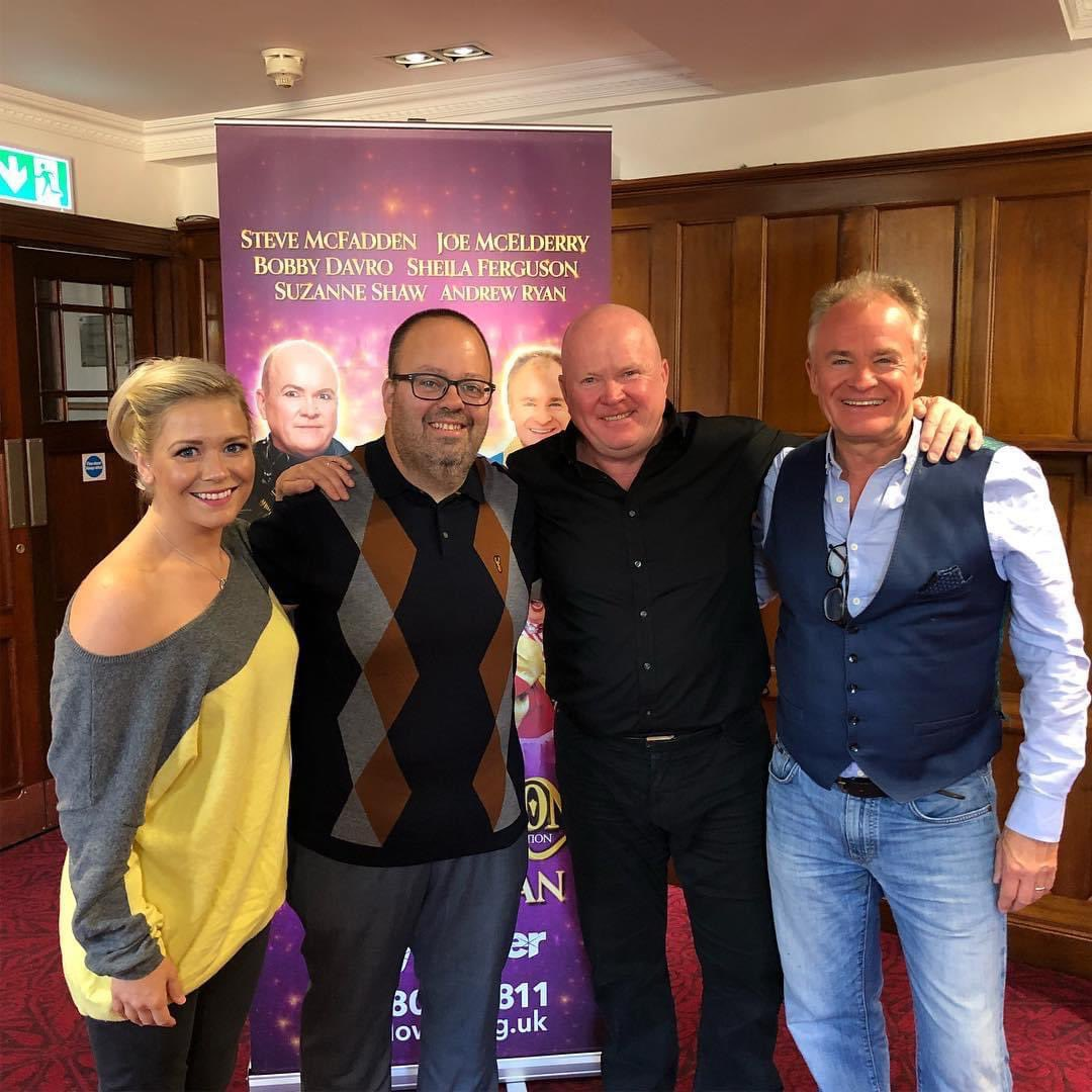 📸 Only 2 years ago @DJPaulBaker was getting in on the #Panto action at @mayflower!  Here he is with Suzanne Shaw, Steve McFadden and Bobby Davro! 🎉🙌 https://t.co/IrOpJspypF