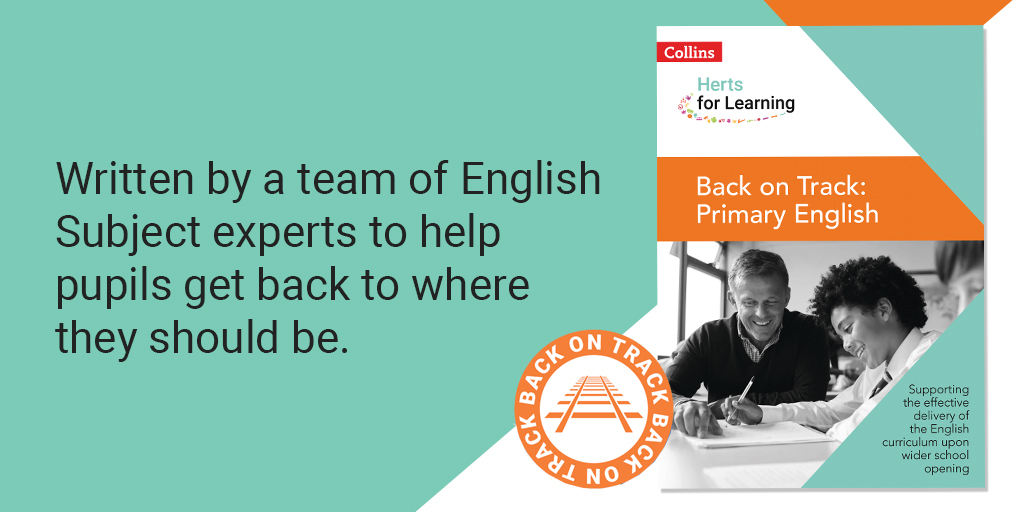Back on Track: English is out now!  Provide a complete, progressive programme for systematically targeting the content that has been missed.   https://t.co/HLPbo8ijhr  @HertsLearning #BackOnTrack https://t.co/qNG4T0PRbE