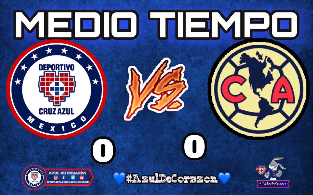 Liga MX | Medio tiempo Cruz Azul 0 🆚 América 0   💙 #AzulDeCorazon ⭐️ #VamosCruzAzul 🏆 https://t.co/ADB3yUexFP