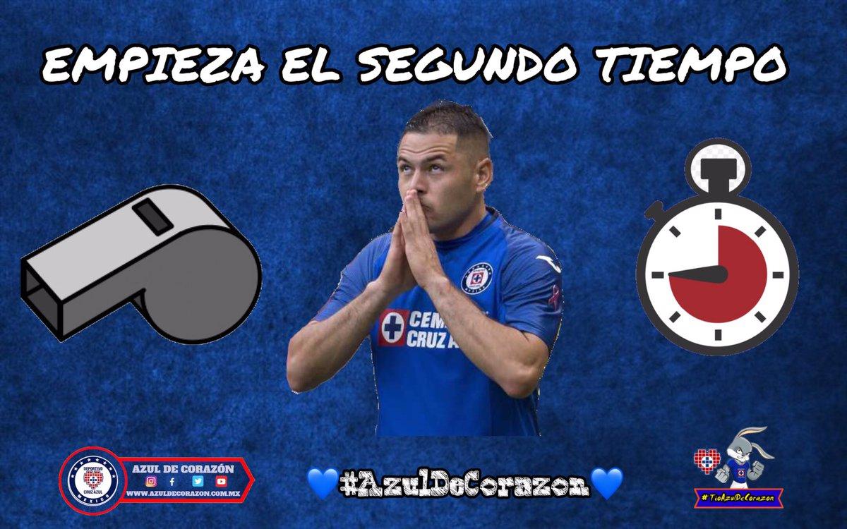 Liga MX | Empieza el segundo tiempo Cruz Azul 0 🆚 América 0   💙 #AzulDeCorazon ⭐️ #VamosCruzAzul 🏆 https://t.co/9CkH2XLhCi