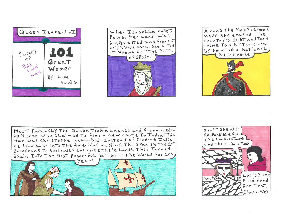 #LuLuEveryDay #Classic #History #TheMoreYouKnow  #Handmade #Comics #Comicstrip #Traditionalart #Animation #artistsontwitter #PenandInk If anybody knows anything about marketing, submitting to a newspaper, or is just taking on a similar project like Bad Luck LuLu drop a line https://t.co/FfPWRhYDyA