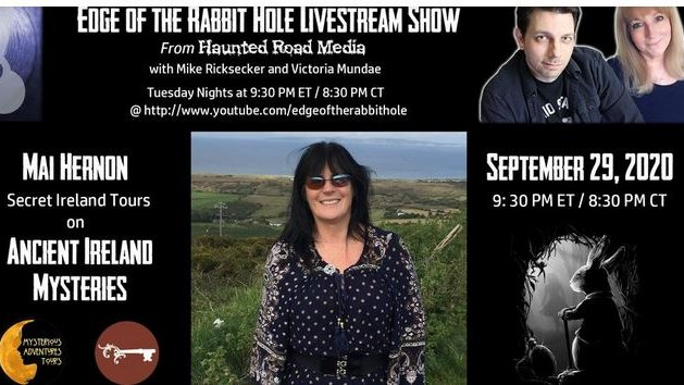 Join us this #Tuesday as we welcome Mai Hernon & discuss Ancient #Ireland Mysteries! Join in the #live #chat for all the fun! Make sure to subscribe so you won't miss a marvelous guest! 930ET/830CT #TuesdayTreat #Haunted #Halloween #ghosts  Subscribe here> https://t.co/tEe0EnNIVW https://t.co/PEbDxgpuMe