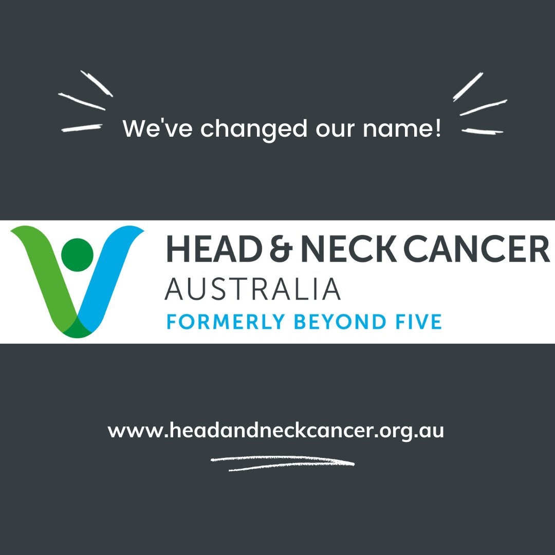 @beyondfiveorg is excited to announce that we have changed our name to Head and Neck Cancer Australia @hncancer_aus. Read all about it here:  https://t.co/hVmElCXBDP https://t.co/x6Lj7lLjni