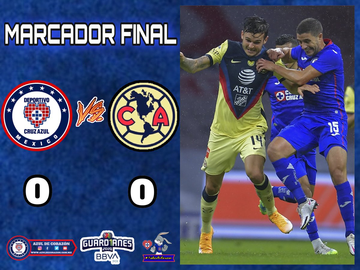 Liga MX | Marcador final Cruz Azul 0 🆚 América 0   💙 #AzulDeCorazon ⭐️ #VamosCruzAzul 🏆 https://t.co/oHHdt3UH8Z