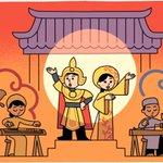 Image for the Tweet beginning: A #GoogleDoodle celebrating Cải Lương!