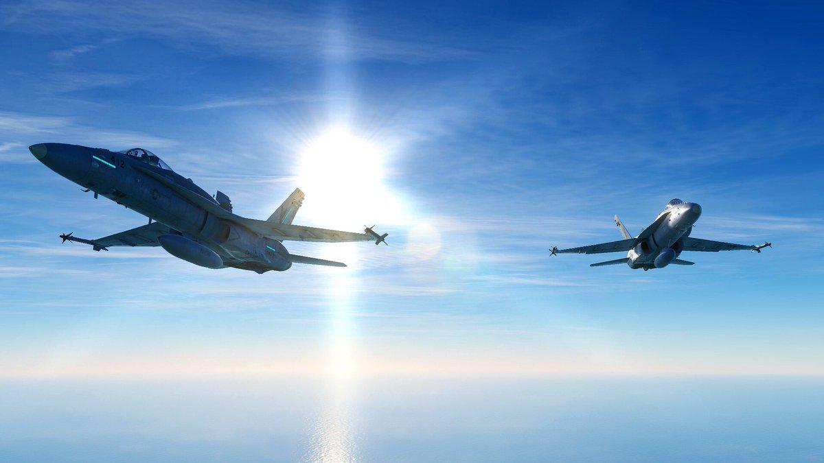 Clean jets.  #ravenone #balticdragon #fa18 #hornet #dcs #dcsworld #photography #pixelart #militaryjets #aviation #virtualphotographer #eagledynamics https://t.co/cu87Ihgyxa