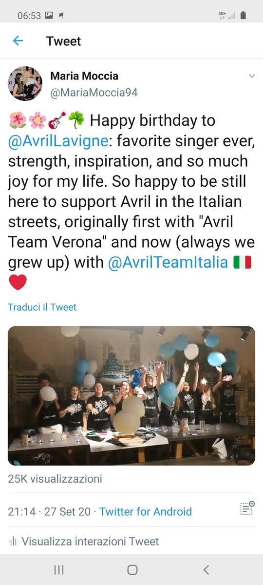 ♥️♥️OMG @AvrilLavigne has reposted our special wishes for her!! We are a very happy TEAM! Thank you ❤❤🇮🇹🌺 #HAPPYBIRTHDAY #HappyBirthdayAvrilLavigne #avrillavigne