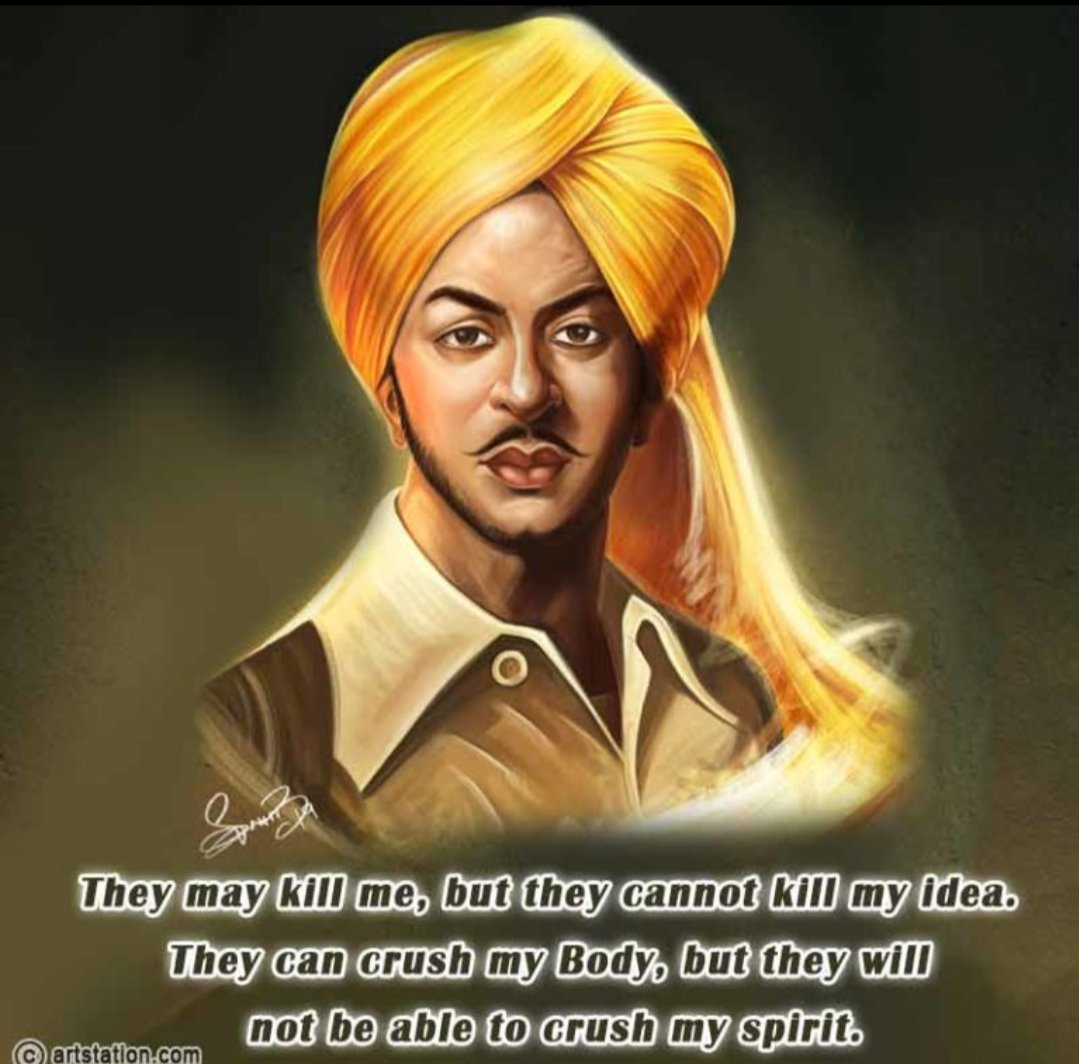 🇮🇳🇮🇳HAPPY BIRTHDAY TO GREATEST REVOLUTIONARY LEGEND OF INDIA🔥🔥🇮🇳🇮🇳🗡🗡🚩🚩🚩🚩🚩 #deshbhakt #BhagatSingh #YouthIcon Greetings on Shaheed Bhagat Singh's birthday! https://t.co/hIgTcbZt7o